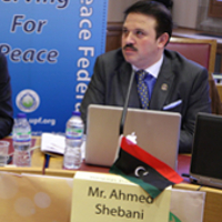 Mr Ahmed Shebani, founder of the Democratic Party in Libya