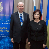 Dr Thomas Walsh with First Lady of Moldova Mrs. Margareta Timofti