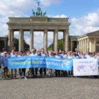 'Peace Road' Bicyclists Follow Berlin Wall