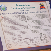 Resolution at the launch of the Interreligious Association for Peace and Development