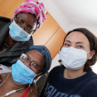 UPF Volunteers Distribute Masks